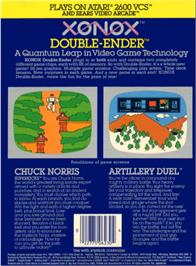 Box back cover for Artillery Duel on the Atari 2600.