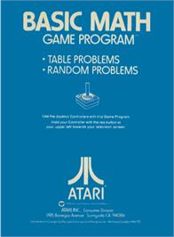 Box back cover for Basic Math on the Atari 2600.