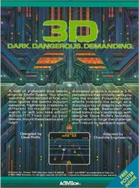 Box back cover for Beamrider on the Atari 2600.