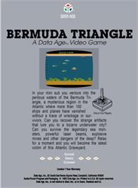Box back cover for Bermuda Triangle on the Atari 2600.