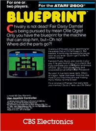 Box back cover for Blue Print on the Atari 2600.