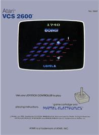 Box back cover for Boing! on the Atari 2600.