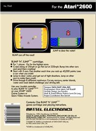 Box back cover for Bump 'N' Jump on the Atari 2600.
