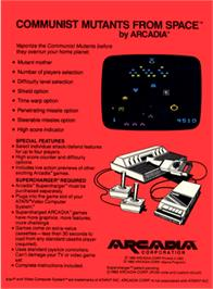 Box back cover for Communist Mutants from Space on the Atari 2600.