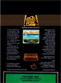 Box back cover for Crash Dive on the Atari 2600.