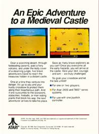 Box back cover for Crossbow on the Atari 2600.