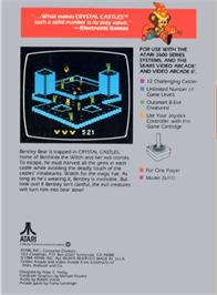 Box back cover for Crystal Castles on the Atari 2600.