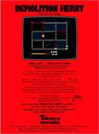 Box back cover for Demolition Herby on the Atari 2600.