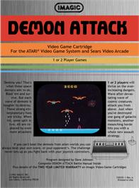 Box back cover for Demon Attack on the Atari 2600.