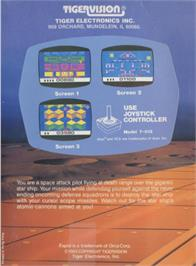 Box back cover for Espial on the Atari 2600.