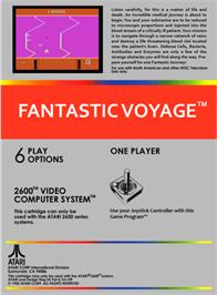 Box back cover for Fantastic Voyage on the Atari 2600.
