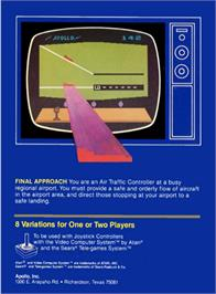 Box back cover for Final Approach on the Atari 2600.