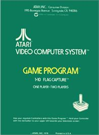 Box back cover for Flag Capture on the Atari 2600.