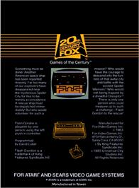 Box back cover for Flash Gordon on the Atari 2600.