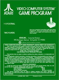 Box back cover for Football on the Atari 2600.