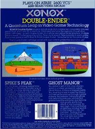 Box back cover for Ghost Manor on the Atari 2600.