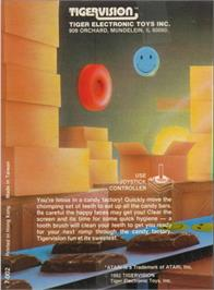 Box back cover for JawBreaker on the Atari 2600.