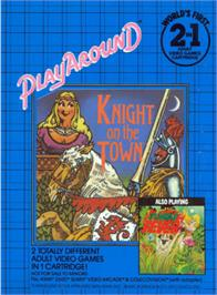 Box back cover for Jungle Fever/Knight on the Town on the Atari 2600.