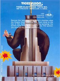 Box back cover for King Kong on the Atari 2600.