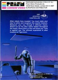 Box back cover for Marauder on the Atari 2600.