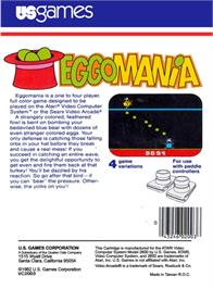 Box back cover for Megamania on the Atari 2600.