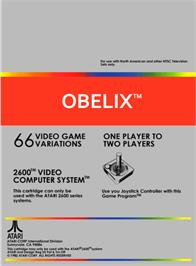 Box back cover for Obelix on the Atari 2600.