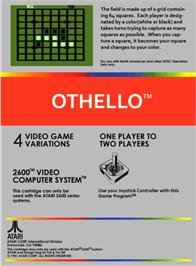 Box back cover for Othello on the Atari 2600.