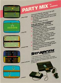 Box back cover for Party Mix on the Atari 2600.