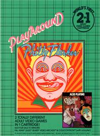Box back cover for Philly Flasher/Cathouse Blues on the Atari 2600.