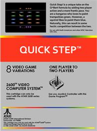 Box back cover for Quick Step on the Atari 2600.