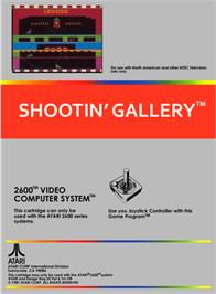 Box back cover for Shootin' Gallery on the Atari 2600.