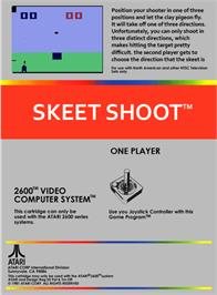 Box back cover for Skeet Shoot on the Atari 2600.