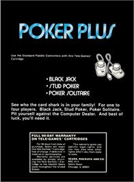 Box back cover for Solar Plexus on the Atari 2600.