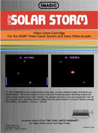 Box back cover for Solar Storm on the Atari 2600.