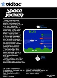 Box back cover for Space Jockey on the Atari 2600.