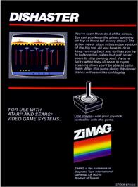 Box back cover for Sprintmaster on the Atari 2600.
