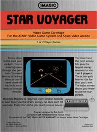 Box back cover for Star Voyager on the Atari 2600.