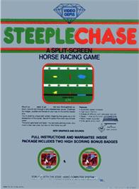 Box back cover for Steeplechase on the Atari 2600.