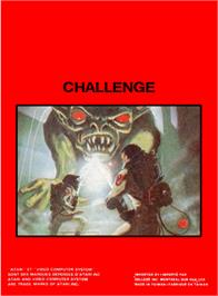 Box back cover for The Challenge of NEXAR on the Atari 2600.