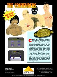 Box back cover for Title Match Pro Wrestling on the Atari 2600.