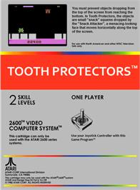 Box back cover for Tooth Protectors on the Atari 2600.