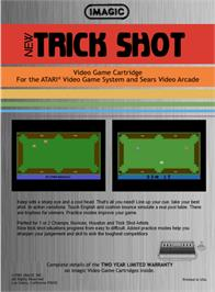 Box back cover for Trick Shot on the Atari 2600.