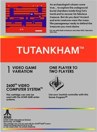 Box back cover for Tutankham on the Atari 2600.