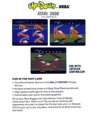 Box back cover for Up 'n Down on the Atari 2600.