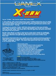 Box back cover for X-Man on the Atari 2600.