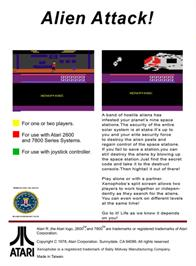 Box back cover for Xenophobe on the Atari 2600.