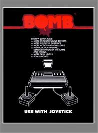 Box back cover for Z-Tack on the Atari 2600.