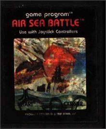 Cartridge artwork for Air-Sea Battle on the Atari 2600.