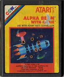 Cartridge artwork for Alpha Beam with Ernie on the Atari 2600.