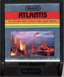 Cartridge artwork for Atlantis on the Atari 2600.